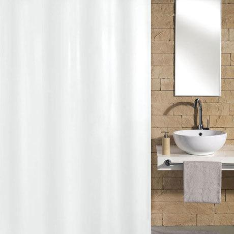 Kleine Wolke Kito Polyester Shower Curtain - W1800 x H2000 - White - 4937-114-305