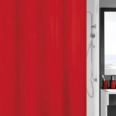 Kleine Wolke Kito Polyester Shower Curtain - W1800 x H2000 - Red - 4937-462-305