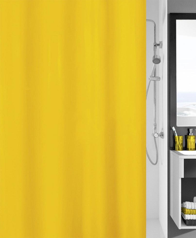Kleine Wolke Kito Polyester Shower Curtain - W1800 x H2000 - Sunshine - 4937-568-305 profile large image view 1