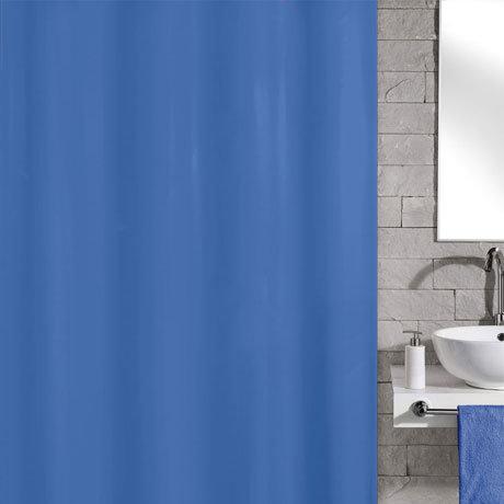 Kleine Wolke Kito Polyester Shower Curtain - W1800 x H2000 - Blue - 4937-733-305