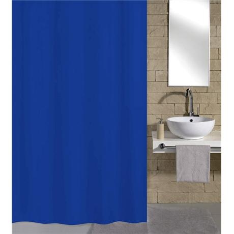 Kleine Wolke Kito Polyester Shower Curtain - W2400 x H1800 - Blue - 4937-733-352