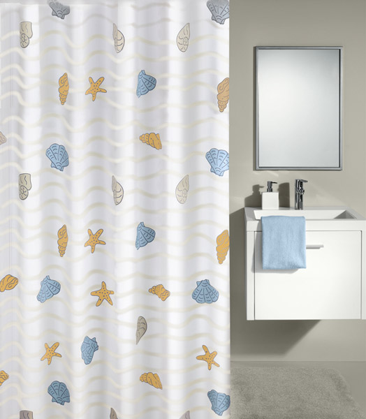 Kleine Wolke - New Beach PEVA Shower Curtain - W1800 x H2000 - 4959-148-305 Large Image