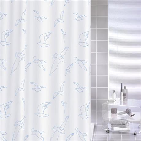 Kleine Wolke - Birdie Polyester Shower Curtain - W1800 x H2000 - White