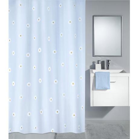 Kleine Wolke - Flower Polyester Shower Curtain - W1800 x H2000 - Blue