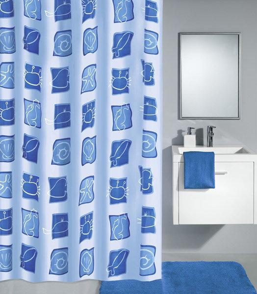 Kleine Wolke - Sealife PEVA Shower Curtain - W1800 x H2000 - Blue - 4990-700-305 Large Image