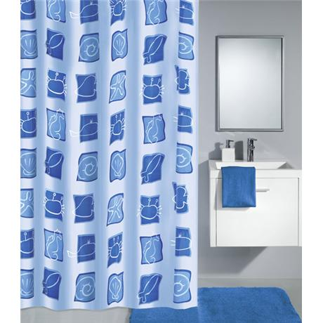 Kleine Wolke - Sealife PEVA Shower Curtain - W1800 x H2000 - Blue - 4990-700-305