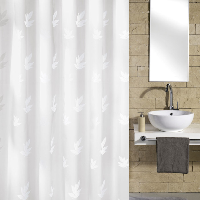 Kleine Wolke - Canton Polyester Shower Curtain - W1800 x H2000 - White Large Image