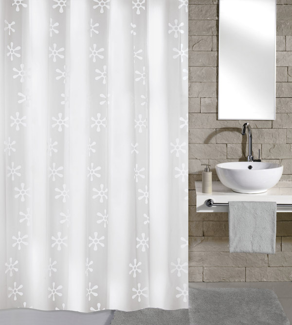 Kleine Wolke - Viva PEVA Shower Curtain - W1800 x H2000 - White - 4997-114-305 Large Image