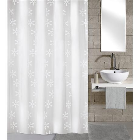 Kleine Wolke - Viva PEVA Shower Curtain - W1800 x H2000 - White - 4997-114-305