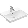 Villeroy and Boch Avento 550 x 440mm 1TH Semi-Recessed Basin - 4A065501 profile small image view 1