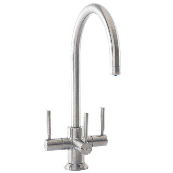 Francis Pegler 3 Way Ceto BRITA Filter Tap - Brushed Steel - 4B8021 Large Image