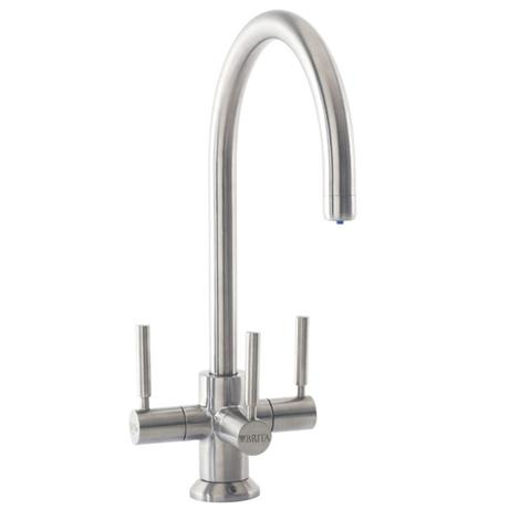 Francis Pegler 3 Way Ceto BRITA Filter Tap - Brushed Steel - 4B8021