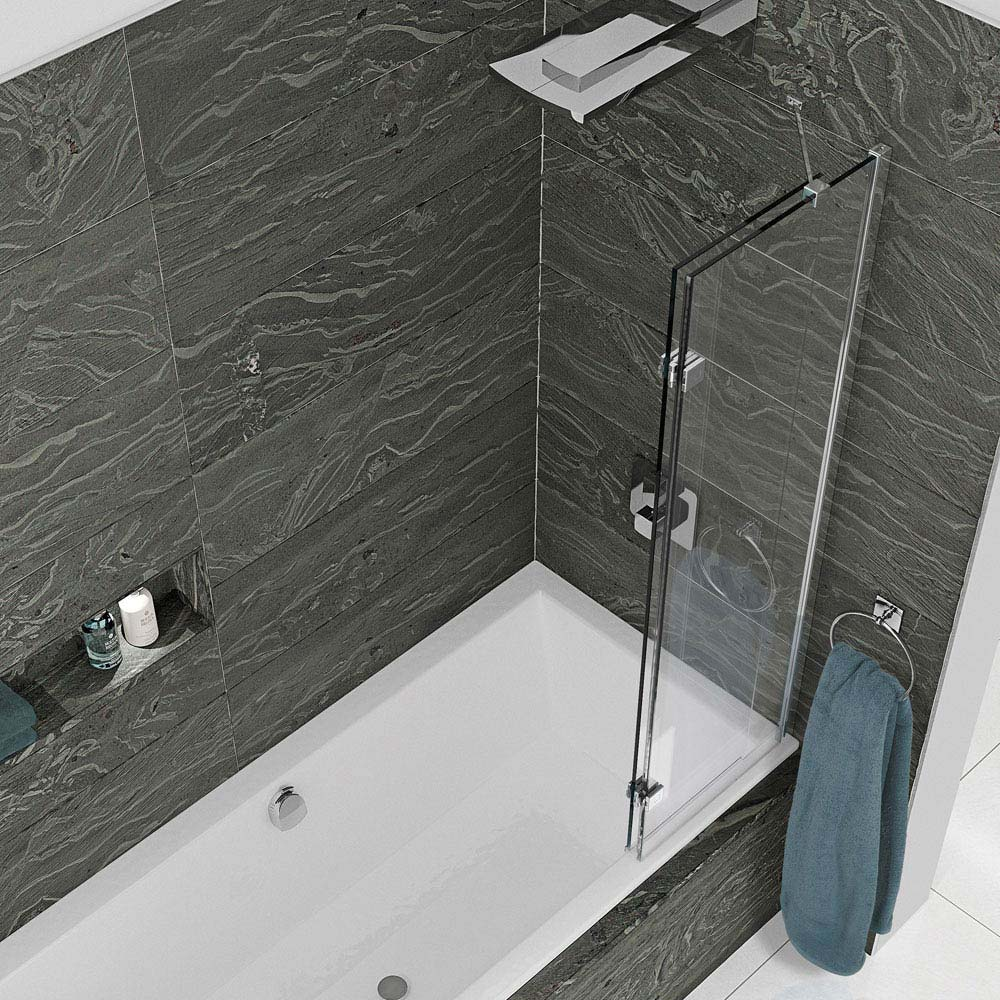 KUDOS Inspire 8mm Two Panel In-Fold Bathscreen  Standard Large Image