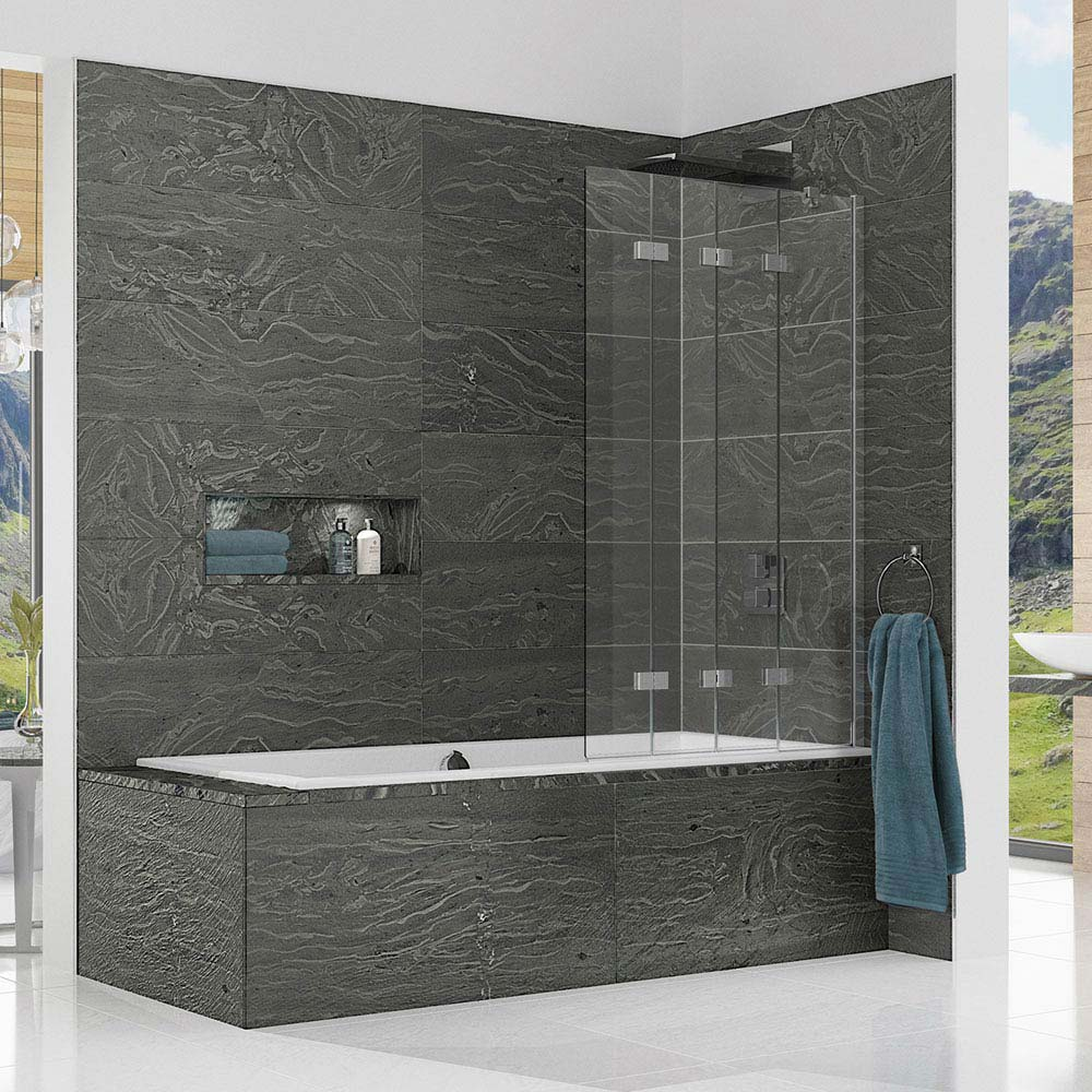 KUDOS Inspire 6mm Four Panel In-Fold Bathscreen  Feature Large Image