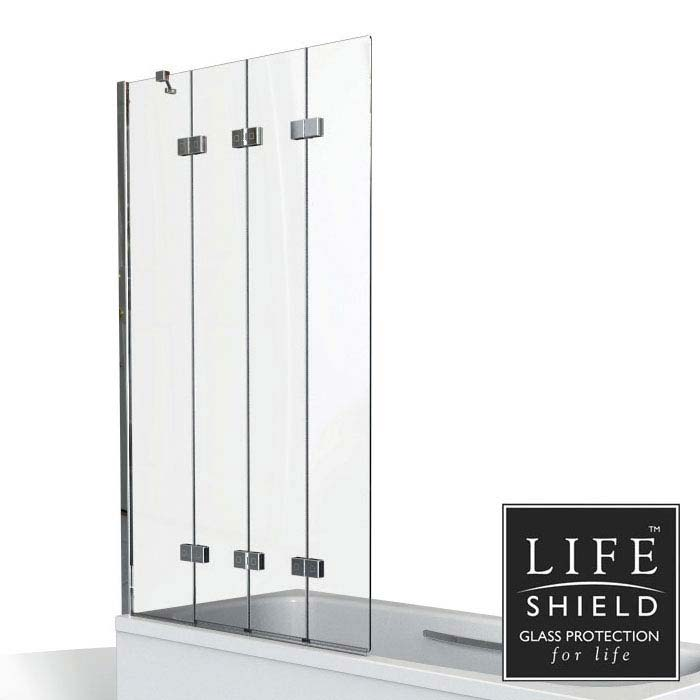 KUDOS Inspire 6mm Four Panel In-Fold Bathscreen Large Image