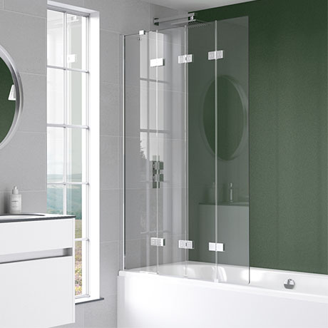 KUDOS Inspire 6mm Four Panel In-Fold Bathscreen