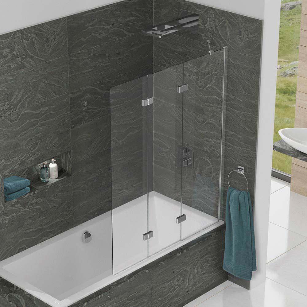 KUDOS Inspire 6mm Three Panel In-Fold Bathscreen profile large image view 3