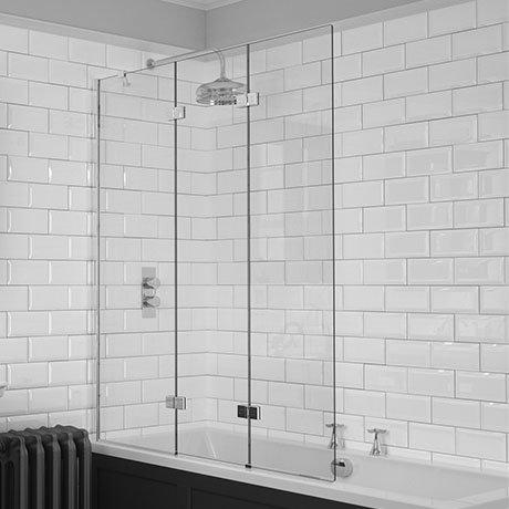 KUDOS Inspire 6mm Three Panel In-Fold Bathscreen