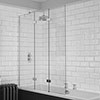 KUDOS Inspire 6mm Three Panel In-Fold Bathscreen profile small image view 1
