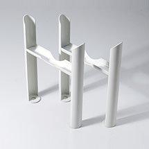 Keswick White 4 Column Radiator Feet Medium Image