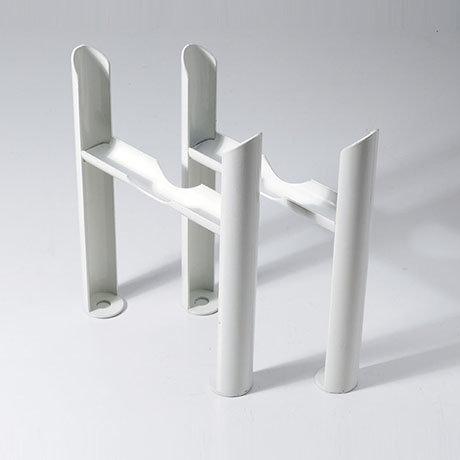 Keswick White 4 Column Radiator Feet
