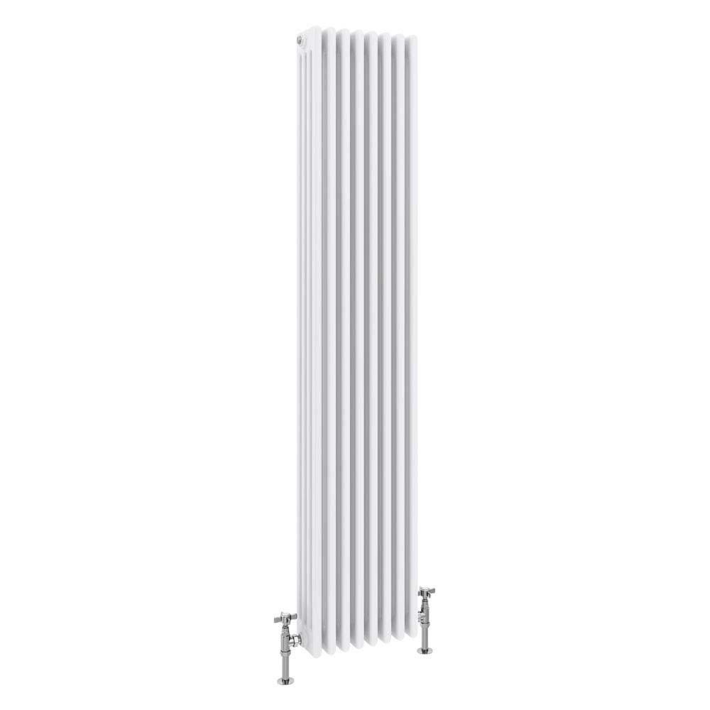Keswick Cast Iron Style Traditional 4 Column White Radiator (1800 x 372mm) profile large image view 1
