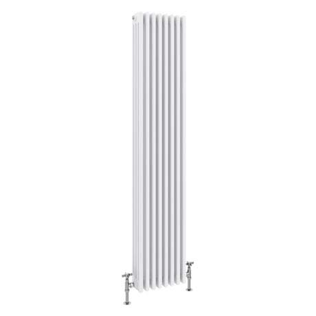 Keswick Cast Iron Style Traditional 4 Column White Radiator (1800 x 372mm)