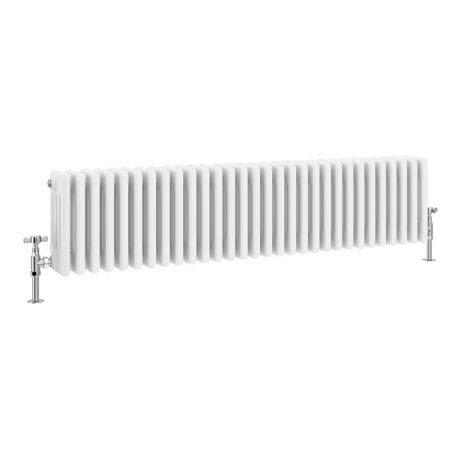 Keswick Cast Iron Style Traditional 4 Column White Radiator (300 x 1340mm)