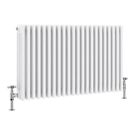 Keswick Cast Iron Style Traditional 4 Column White Radiator (600 x 988mm)