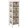4-Drawer Rustic Storage Chest profile small image view 1