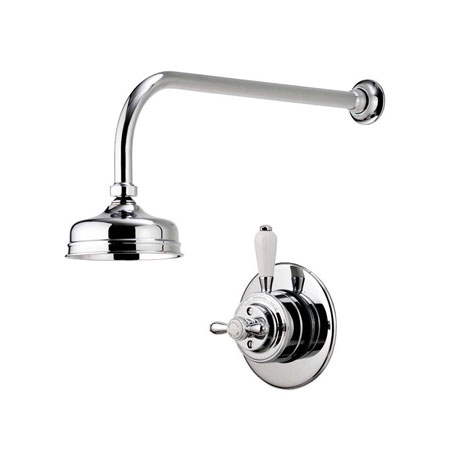"Aqualisa - Aquatique Thermo Concealed Thermostatic Valve with 5"" Drencher Head & Arm - Chrome - 500."
