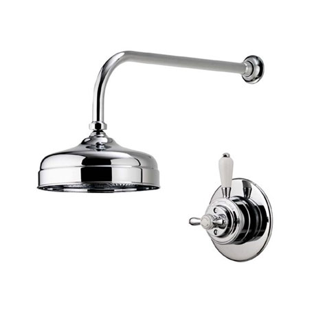 "Aqualisa - Aquatique Thermo Concealed Thermostatic Valve with 8"" Drencher Head & Arm - Chrome - 500."