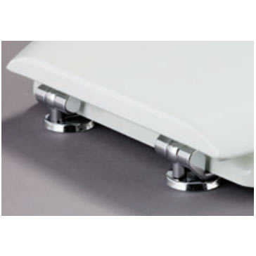 Bemis - Model 5000CP Toilet Seat with Chrome Hinges - White - 5000CP000 Profile Large Image
