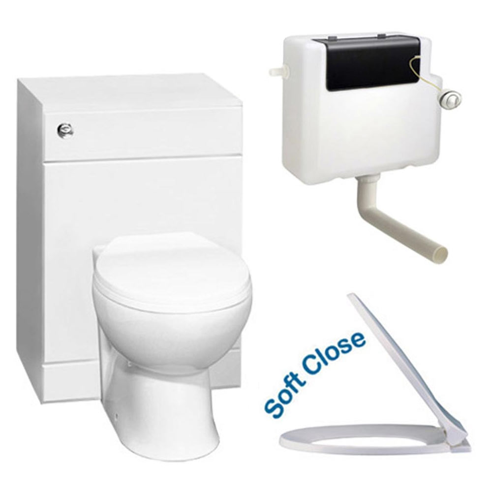 Alaska 500 x 300mm Toilet Unit Inc. Cistern, Pan + Soft Close Seat