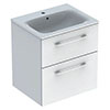 Geberit Selnova Square S 600mm White Wall Hung 2-Drawer Vanity Unit profile small image view 1