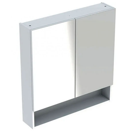 Geberit Selnova Square S 588mm White 2-Door Mirror Cabinet