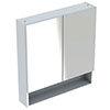 Geberit Selnova Square S 588mm White 2-Door Mirror Cabinet profile small image view 1