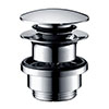 hansgrohe Push-open Brass Waste for Basin and Bidet Mixers - 50100000 profile small image view 1