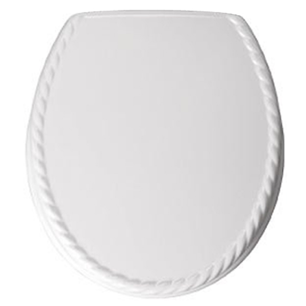 Bemis - 5023AR Rope Design Toilet Seat - White - 5023AR000 profile large image view 1