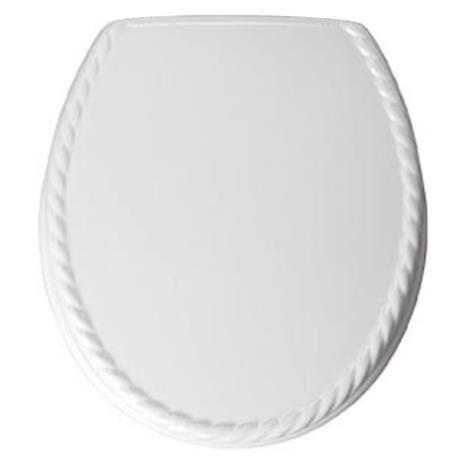 Bemis - 5023AR Rope Design Toilet Seat - White - 5023AR000