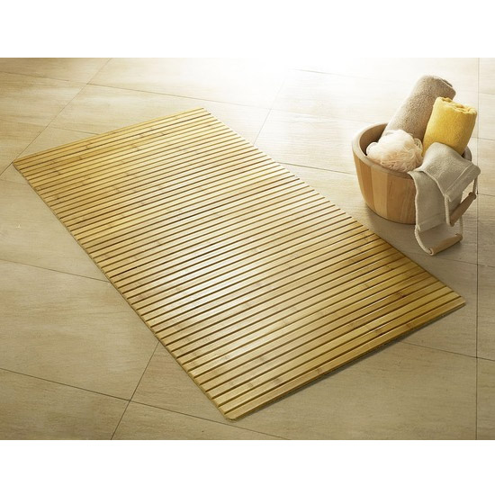 Kleine Wolke - Bamboo Wood Bath Mat - Nature - Various Size Options Large Image