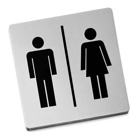 Zack Indici Information Sign - Stainless Steel - Man/Woman - 50712