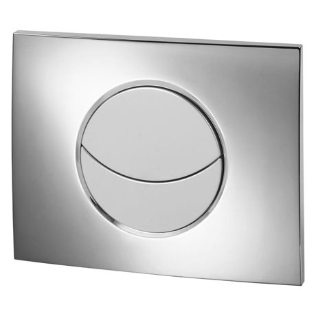 Wirquin Moon Dual Flush Plate - Shiny Chrome