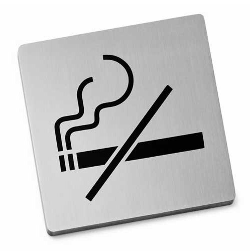 Zack Indici Information Sign - Stainless Steel - No Smoking - 50719 Large Image