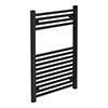 Turin Black W500 x H800mm Heated Towel Rail profile small image view 1