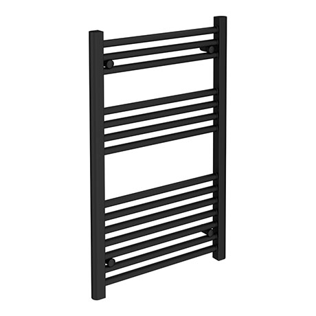Turin Black W500 x H800mm Heated Towel Rail