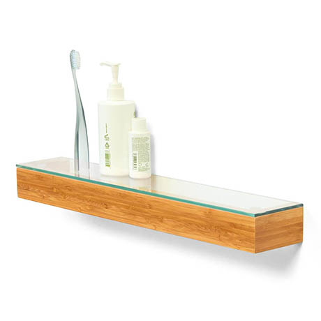 550mm Glass Shelf Bamboo