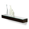 550mm Glass Shelf Dark Oak profile small image view 1