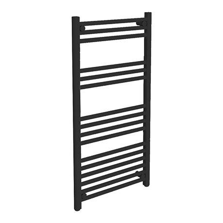 Turin Black W500 x H1000mm Heated Towel Rail