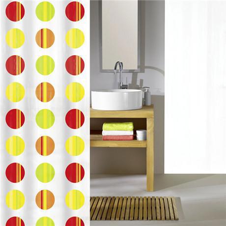 Kleine Wolke - Point Polyester Shower Curtain - W1800 x H2000 - Mulitcoloured